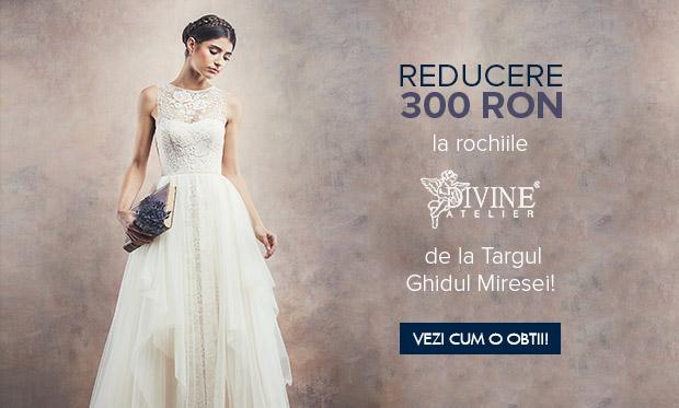Divine Atelier Va Ofera O Reducere De 300 Ron La Rochiile De Mireasa