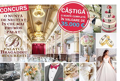Concurs Nunta completa: O nunta de neuitat in cel mai frumos palat - Palatul Bragadiru