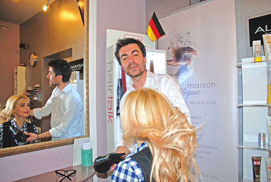Hair-stylist Iulian Mihaila