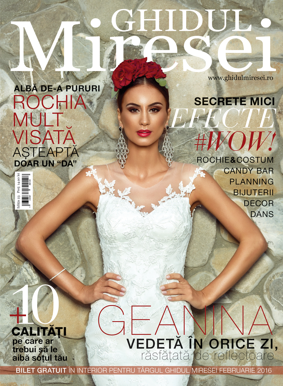 Revista Ghidul Miresei, editia nr. 23 - Geanina Ilies