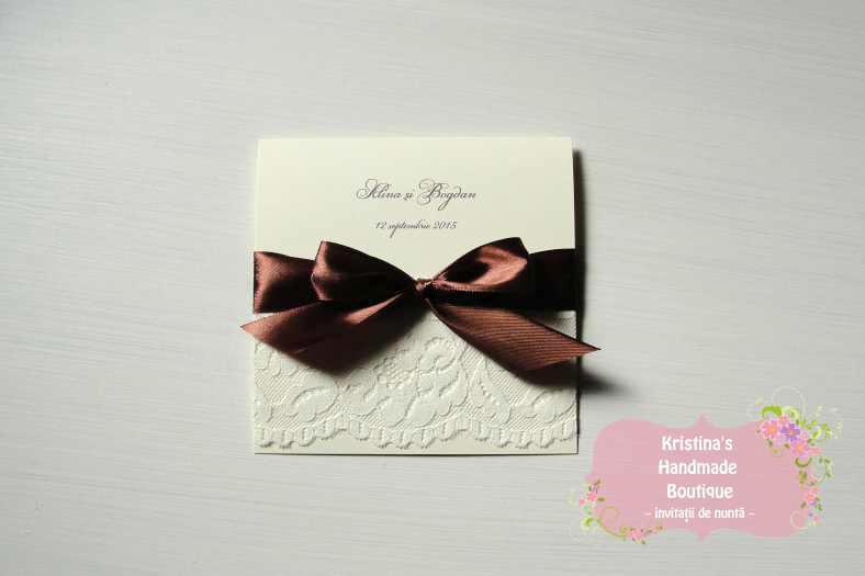 Invitatii de nunta Kristina's Handmade Boutique