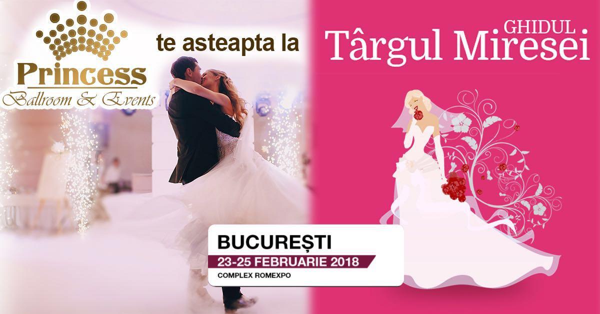 Princess Ballroom & Events te asteapta la Targul Ghidul Miresei, 23-35 februarie, Cupola Romexpo