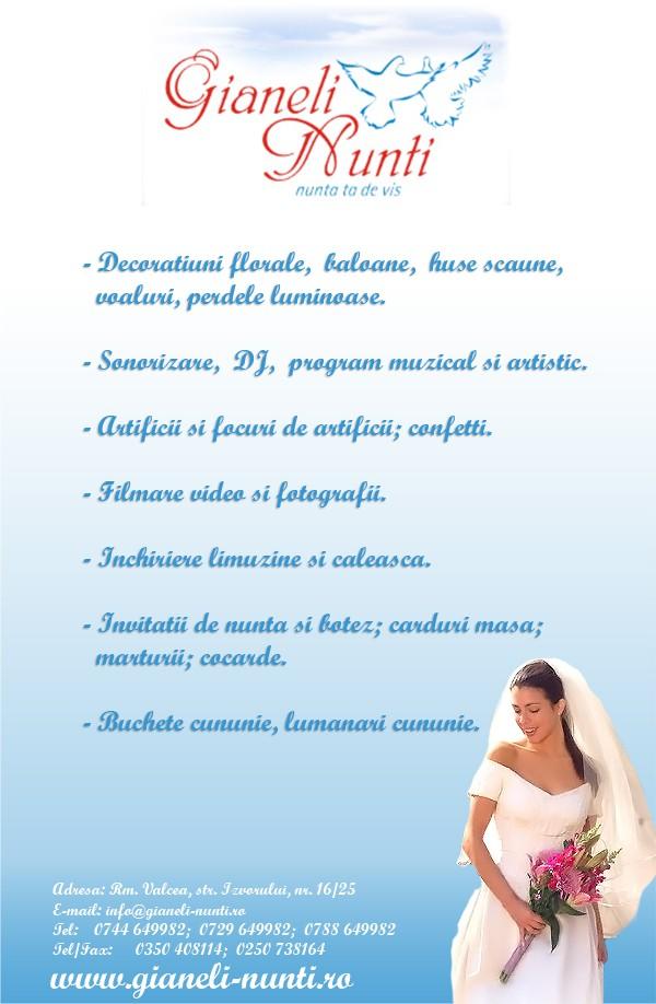 Decoratiuni Nunta 2019 Gianeli